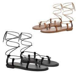 Fin 2 Colours SMALL FEET SHOES Tie Up Sandals