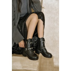 Hoda Chunky Military Boot