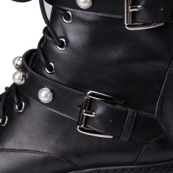 Hoda Chunky Military Boot