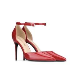 Enny Red 3 Heel Heights