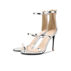 Evie Silver 3 Heel Heights