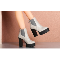 Aiey 2 Colours Chunky Platform Boot